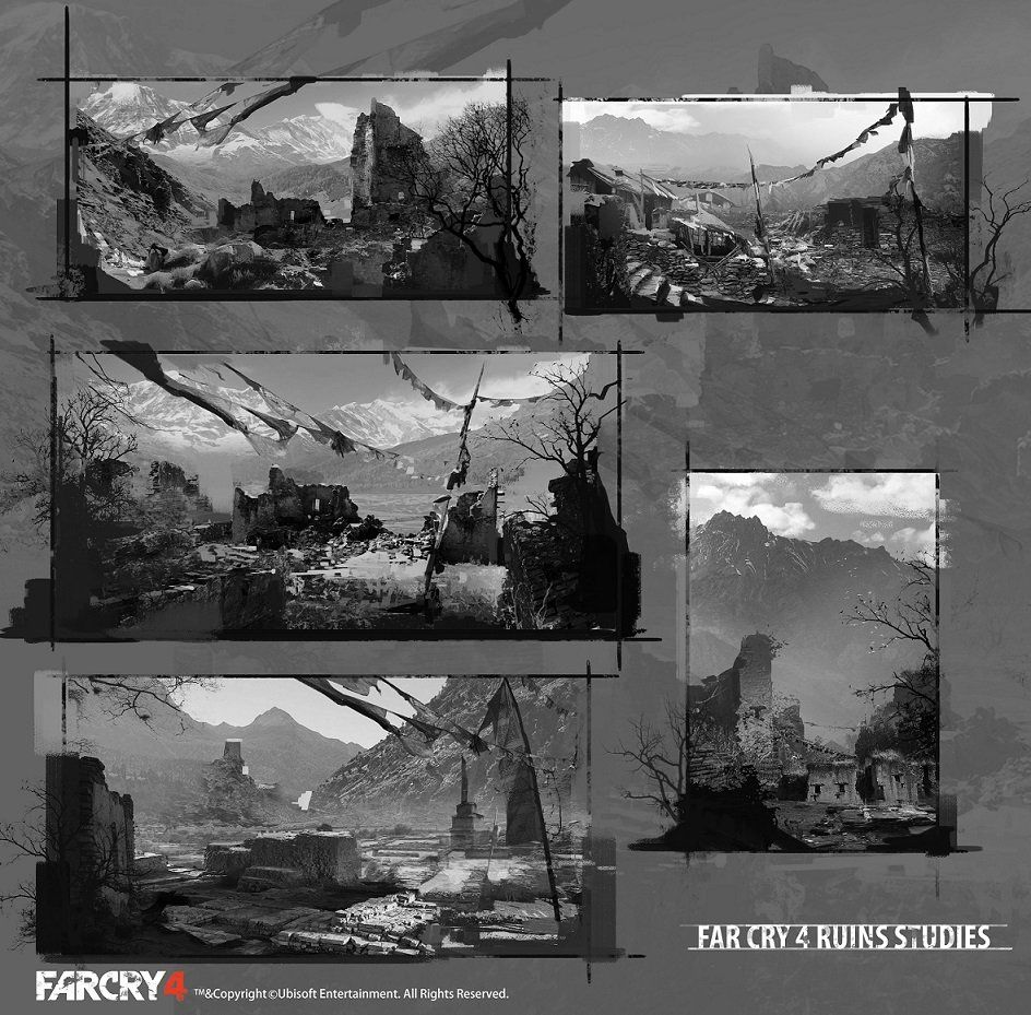 FarCry4 Concept Art - Studies, Donglu Yu on ArtStation at http://www.artstation.com/artwork/farcry4-concept-art-studies