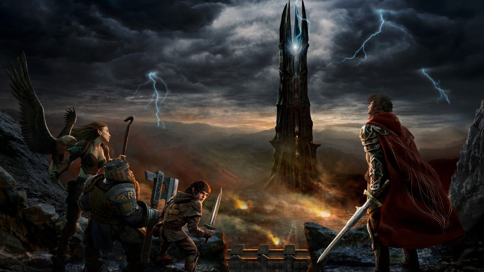 Free 3d Animated Wallpaper Thunder 3d Animated Wallpaper Tower 3d Animated Wallpaper 3d Animated Lord Of The Rings Shadow Of Mordor Fantasy Art