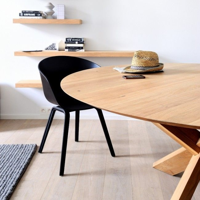 Dining Ethnicraft Oak Circle Table From Clickon Furniture