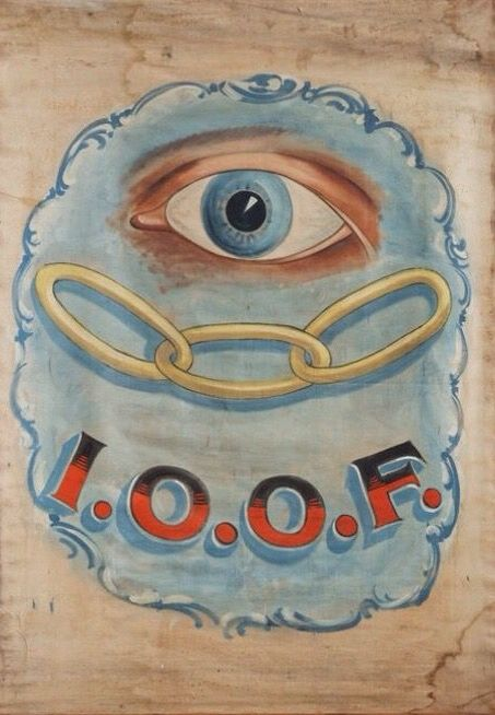 Independent Order of Odd Fellows (IOOF) Banner (1900)