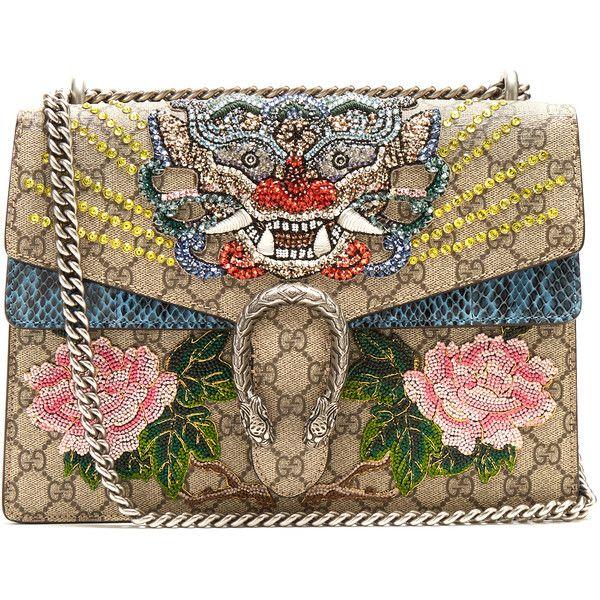 8ed6affba87e Gucci Dionysus GG Supreme embellished large shoulder bag ( 5