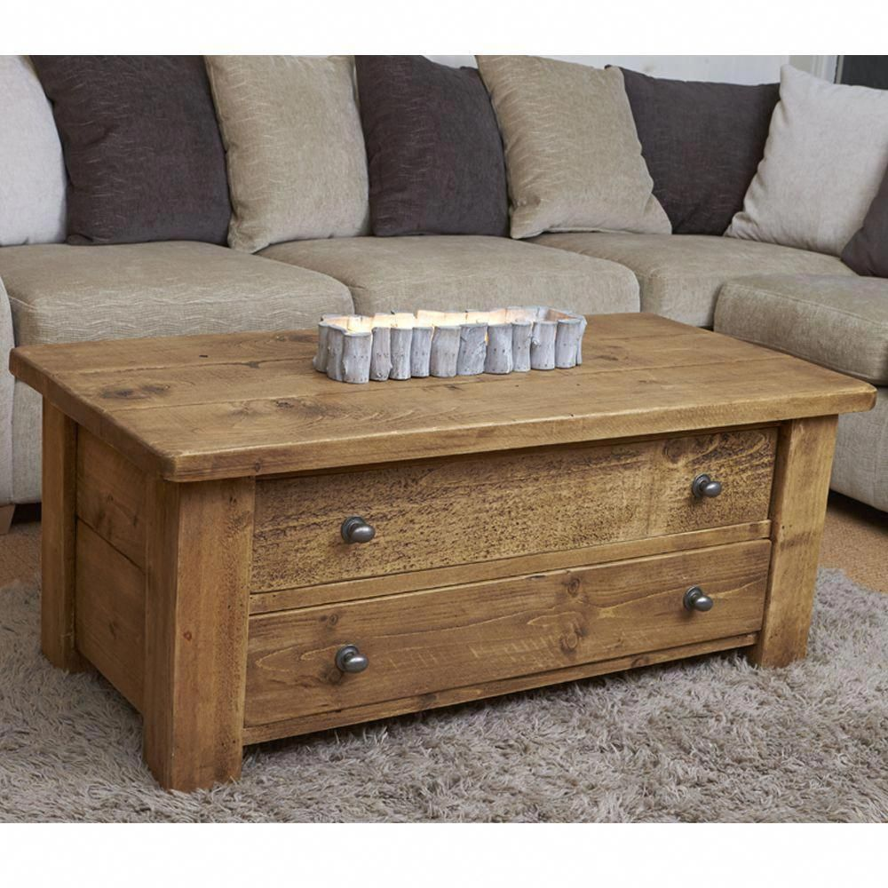 Haddon Plank Coffee Table With Drawers Coffee Table With Drawers Reclaimed Wood Coffee Table Coffee Table Furniture