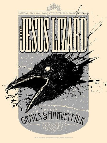 The Jesus Lizard Forum 051109 Rock Poster Design Jesus Lizard