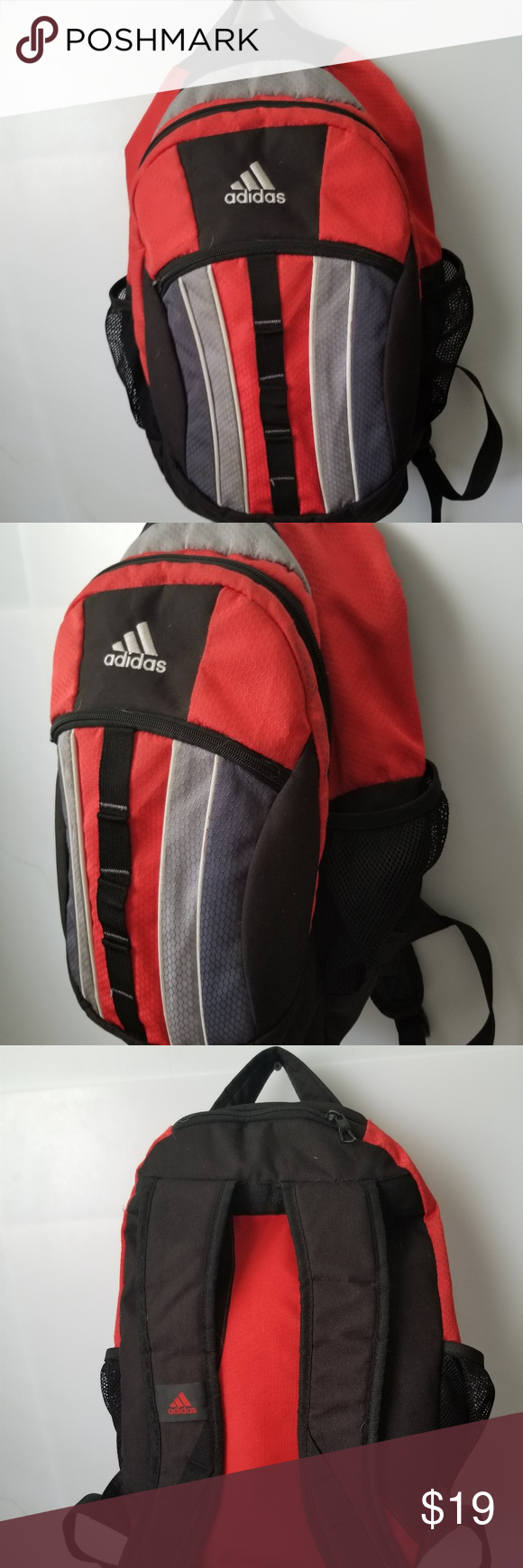 ... Adidas Back Pack Three Front Zippers Adjustable Strap Two Side Pockets adidas  Bags Backpacks super popular ... 31d4b0342f
