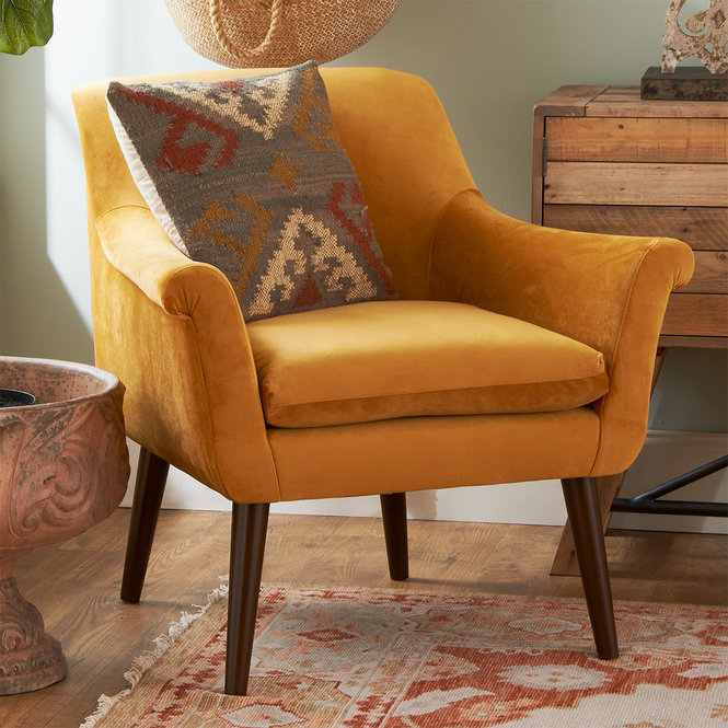 Mustard Seed Rolled Arm Chair Arm Chairs Living Room Comfy