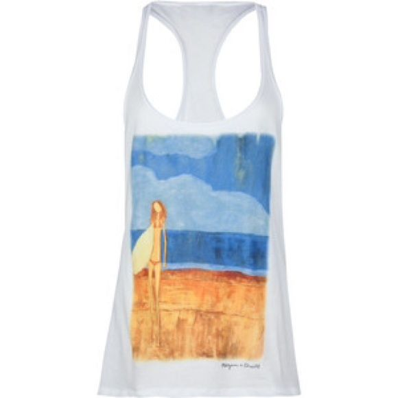 LOWEST:1DAYSALE!O'neill Solana Surfer Beach Tank O'Neill Solana tank. Large surfer girl artwork on front. Racerback. 100% cotton. Machine wash. No trades, price firm unless bundled.Please no offers☺️ O'Neill Tops Tank Tops