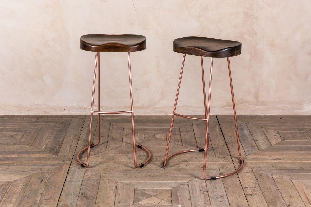 Superb Pair Of Copper Metal Bar Stools Kitchen Ideas In 2019 Inzonedesignstudio Interior Chair Design Inzonedesignstudiocom