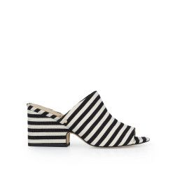b66a02d58cec Rheta Block Heel Mule Sandal by Sam Edelman - BlackWhite Stripe ...