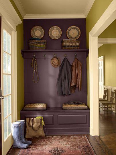 Vintage Wine Benjamin Moore Paint Color of 2011 Flure, Diele und - garderobe selber bauen schner wohnen