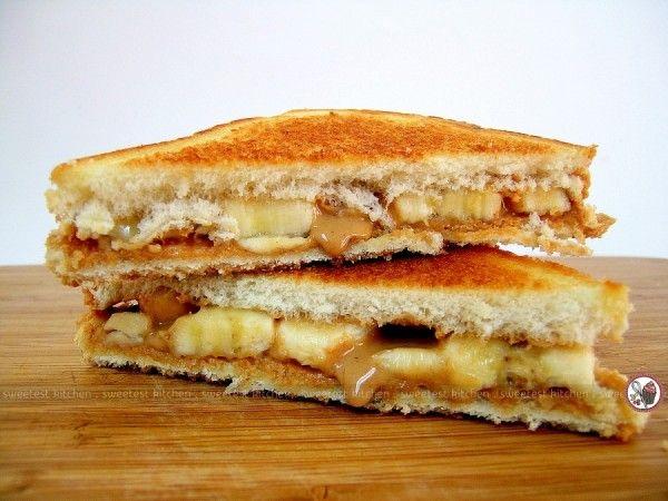 Elvis Presley S Fried Peanut Butter Banana Sandwich Sweetest Kitchen Recipe Peanut Butter Banana Sandwich Banana Sandwich Peanut Butter Sandwich
