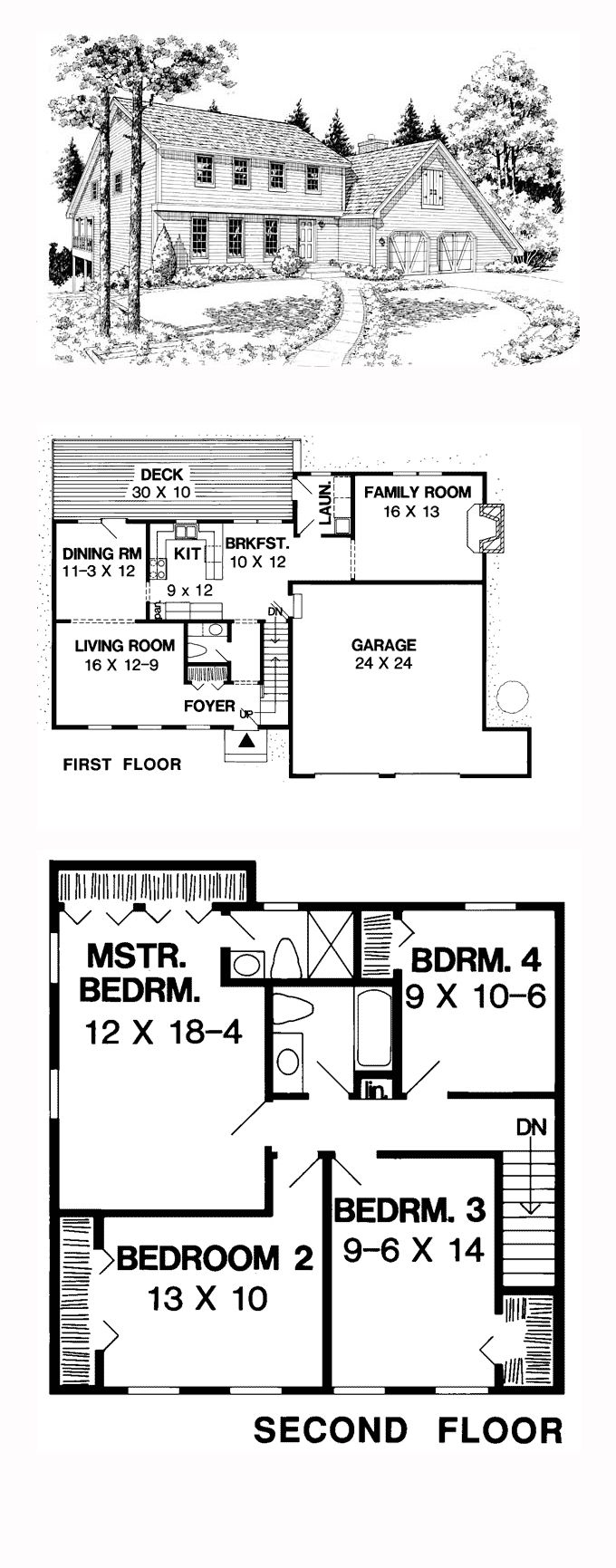 Saltbox Style House Plan 10829 With 4 Bed 3 Bath 2 Car Garage House Plans How To Plan Saltbox Houses