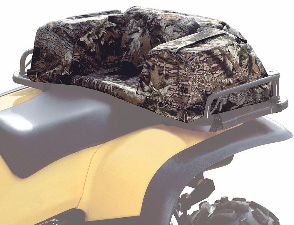 Atv Rear Seat Pad Cushion Passenger Storage Bag Camo Hunting Gear Luggage Rack
