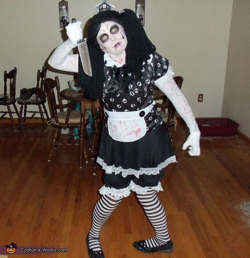 how to make a scary doll halloween costume