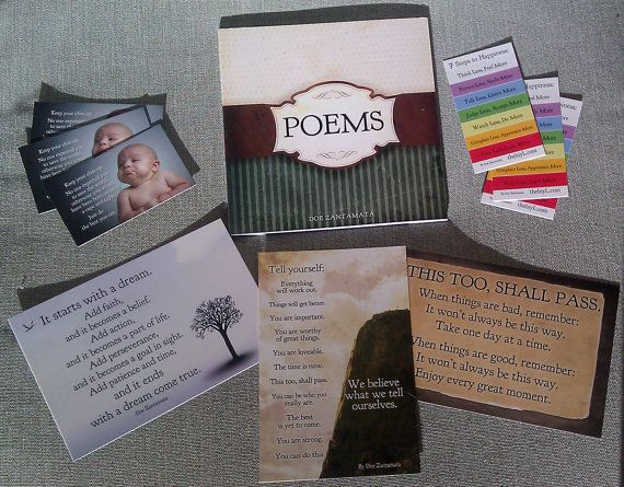 Poems Paperback Book Awesome Bonus Package by happinessinyourlife, $12.95