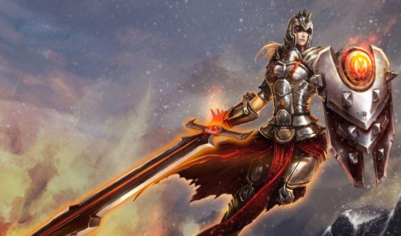 Chinese Defender Leona Splash Art League Of Legends League Of