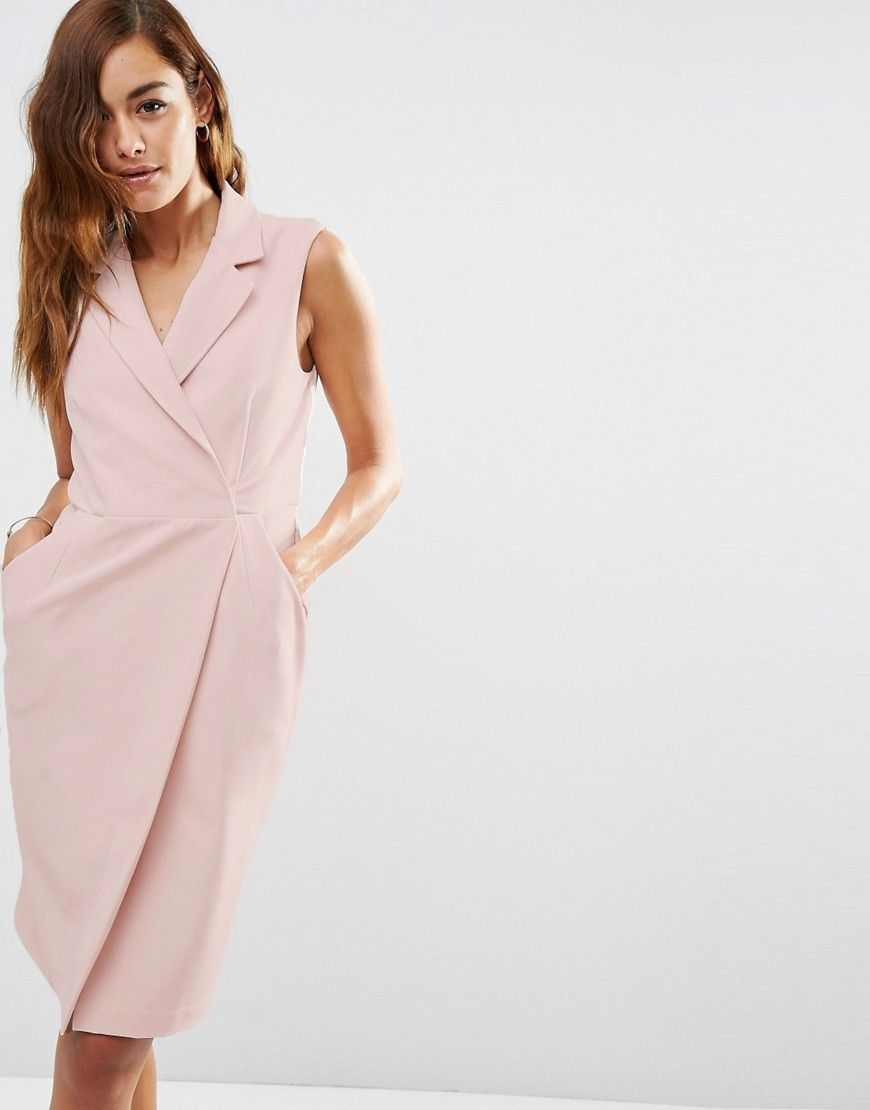 495946e241 Budget Work Wear  Sleeveless Tux Dress perfect blush color for an easy  summer work outfit under  70