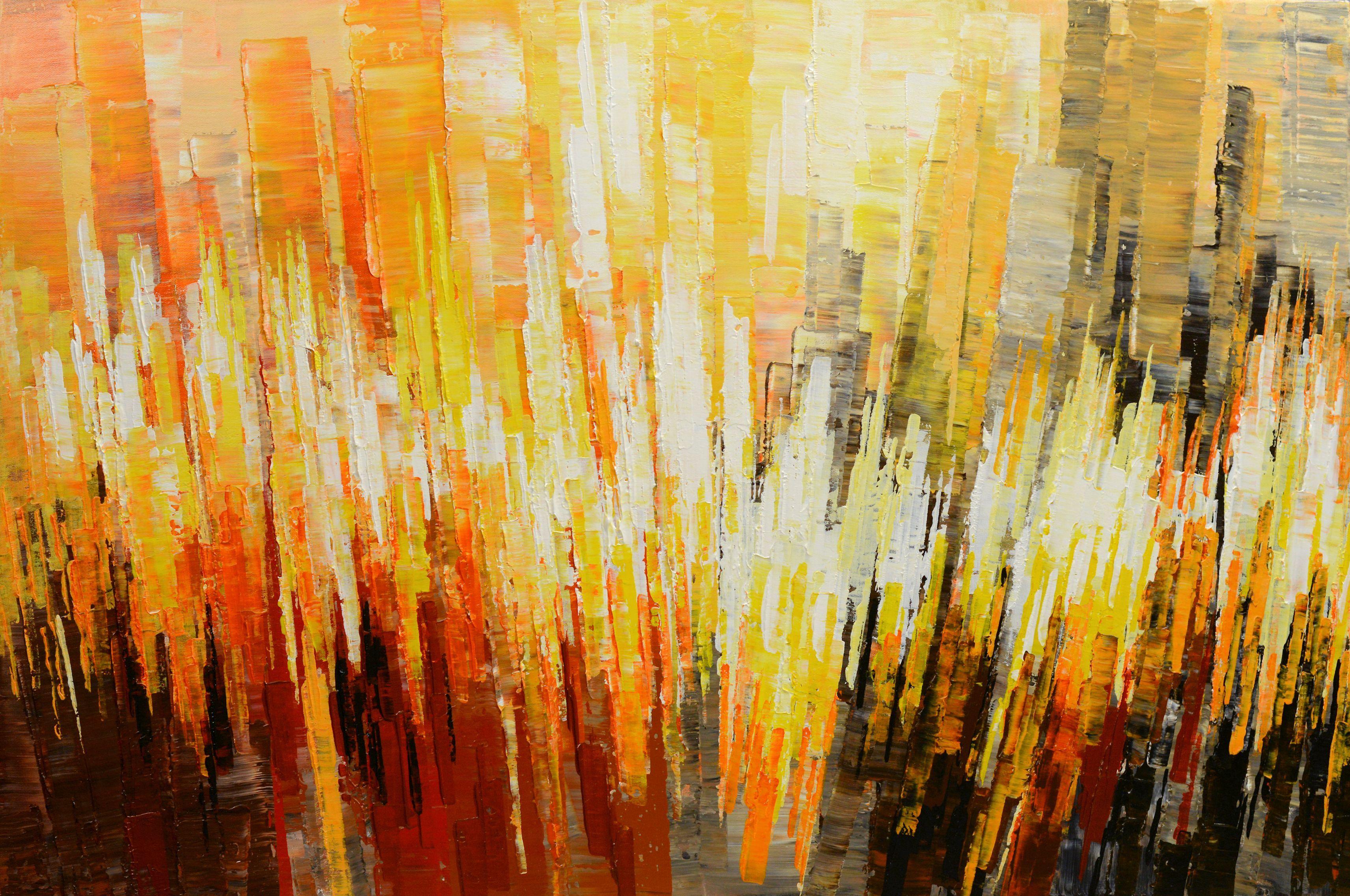 Medium Original Abstract Painting Acrylic On Canvas