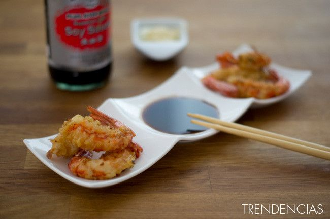 Gambas en tempura, la versión fina de las clásicas gambas con gabardina