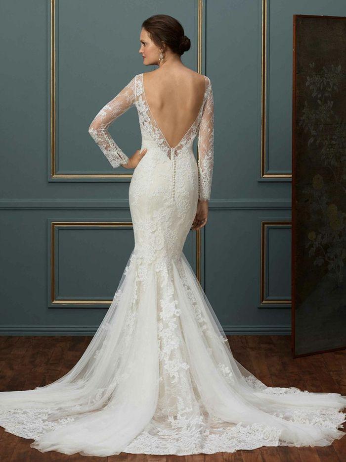 vestidos de novia manga larga y espalda descubierta – vestidos blancos