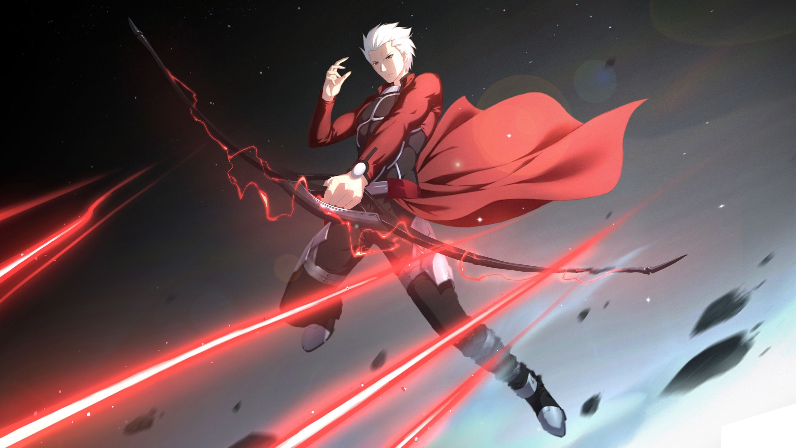 Archer Fate Stay Night Bow White Hair Anime 13256 Jpg