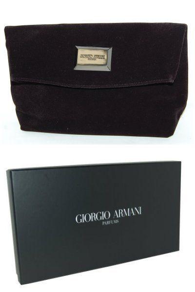 0317da85032a Giorgio Armani Parfums Velvet Clutch Bag. Toiletry Bag