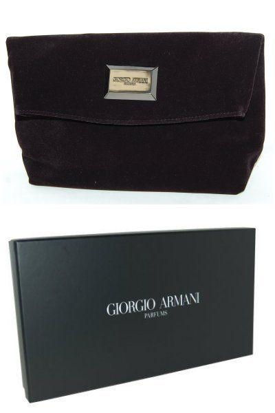 aefac6eec58 Giorgio Armani Parfums Velvet Clutch Bag.   All about Bags ...