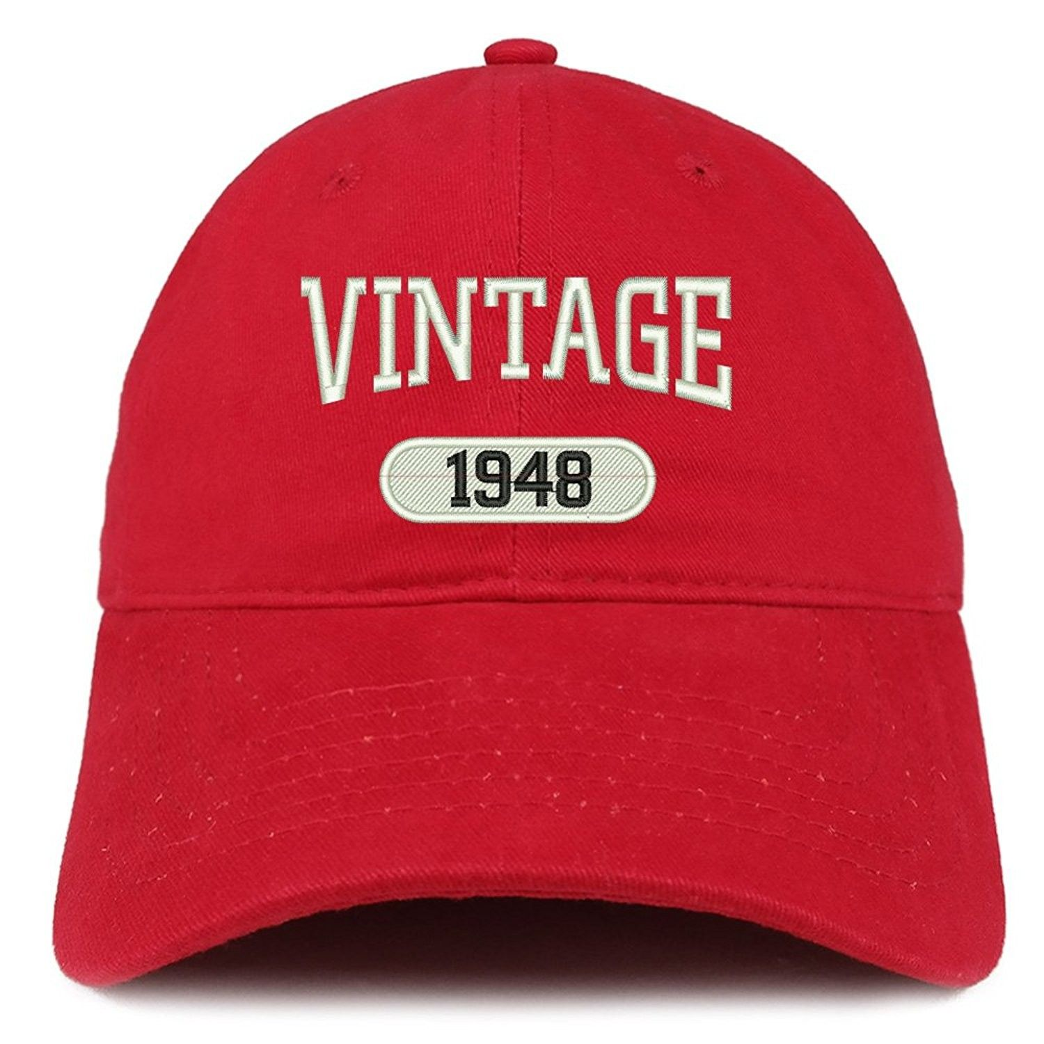Vintage 1948 Embroidered 70th Birthday Relaxed Fitting Cotton Cap