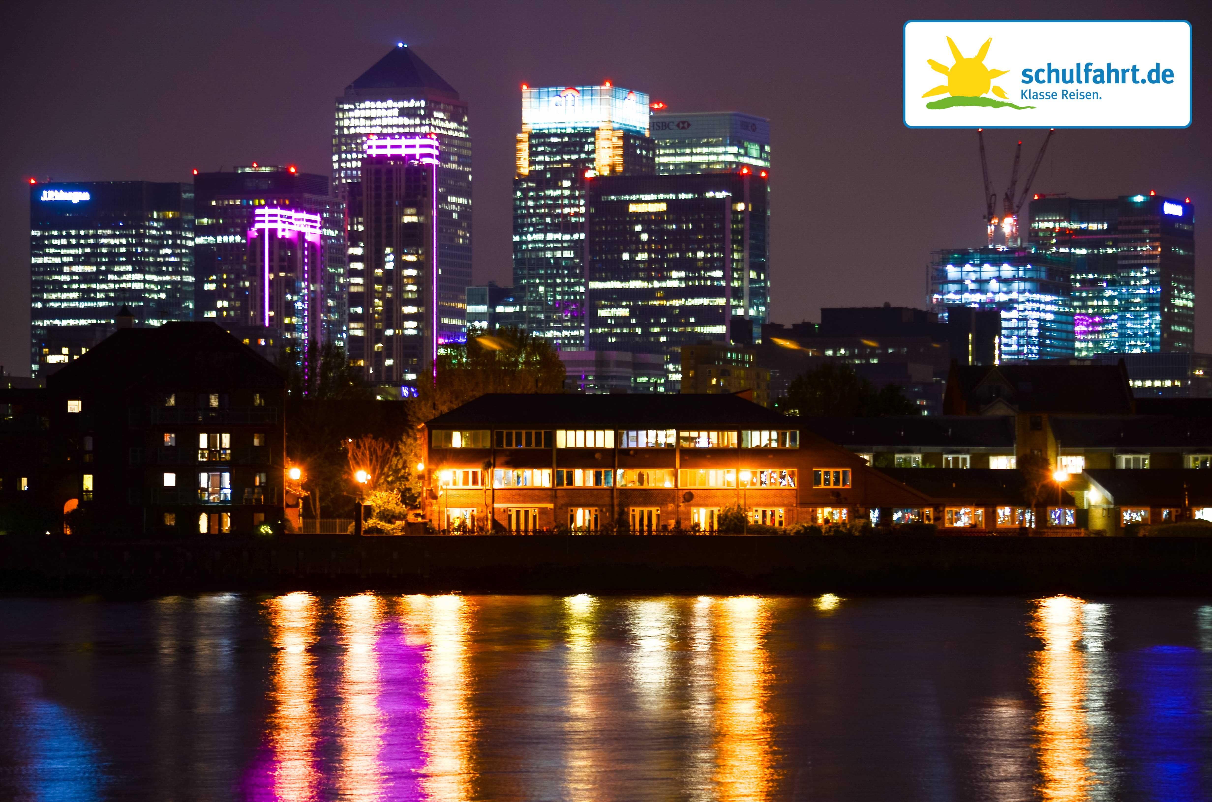 Die Skyline des 2. Finanzviertels Londons - Canary Wharf #London #Finanzviertel #Wolkenkratzer