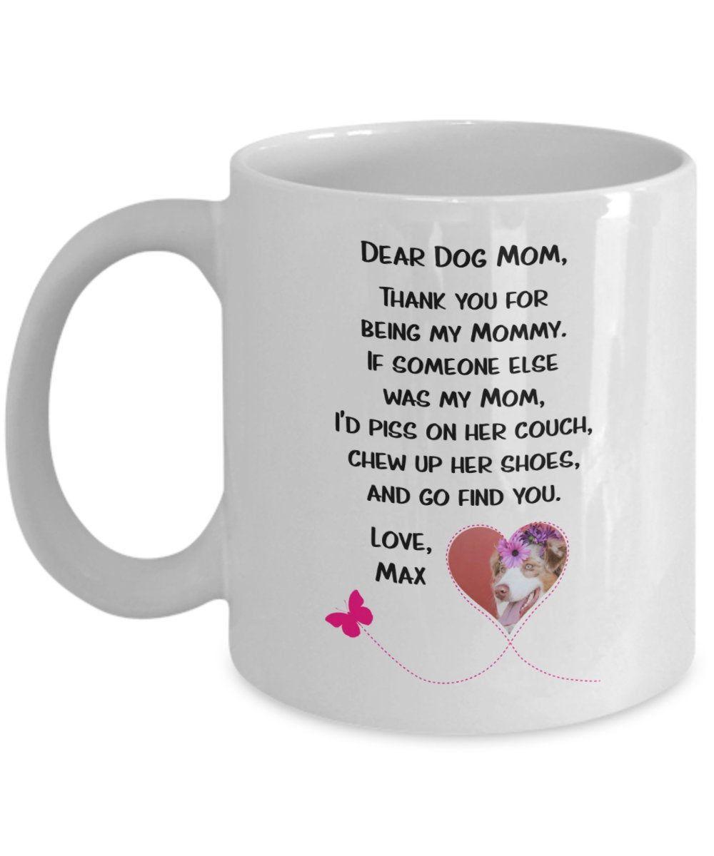Dog mom coffee mug personalized dog mom gifts dog lover