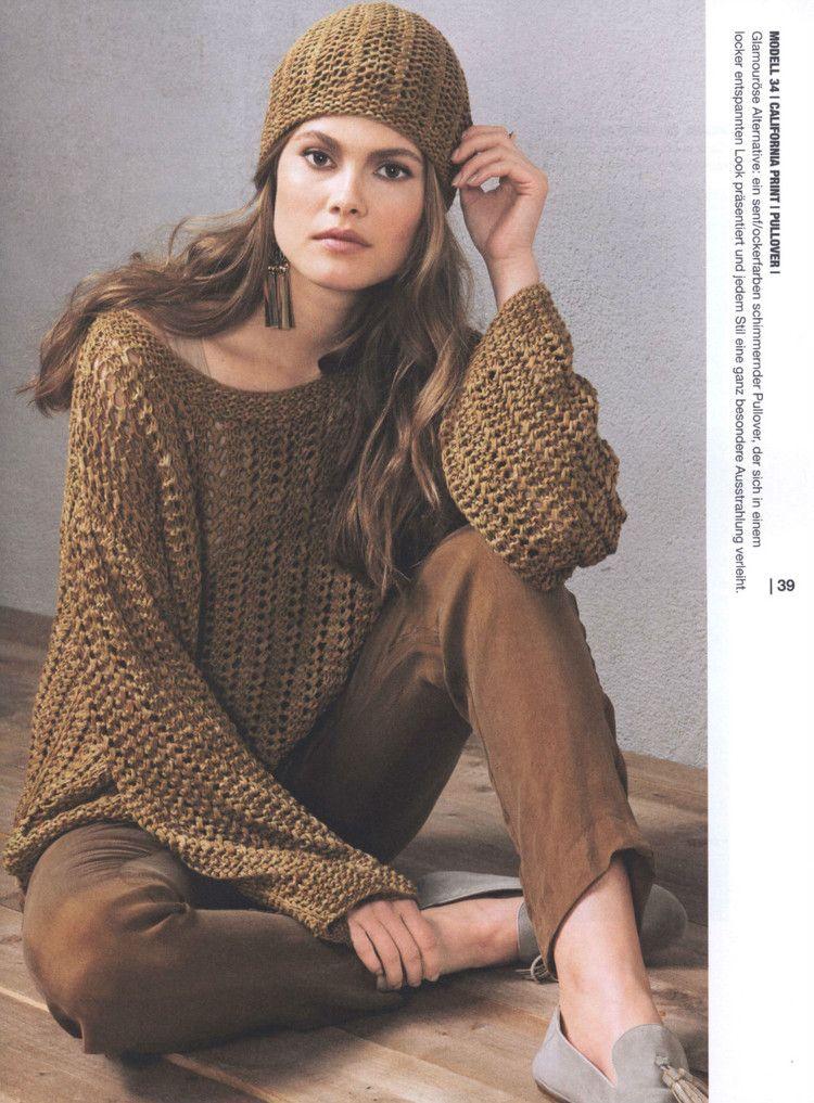 Linea Pura №8. Lana Grossa - 轻描淡写 - 轻描淡写   Crochet sweaters ...