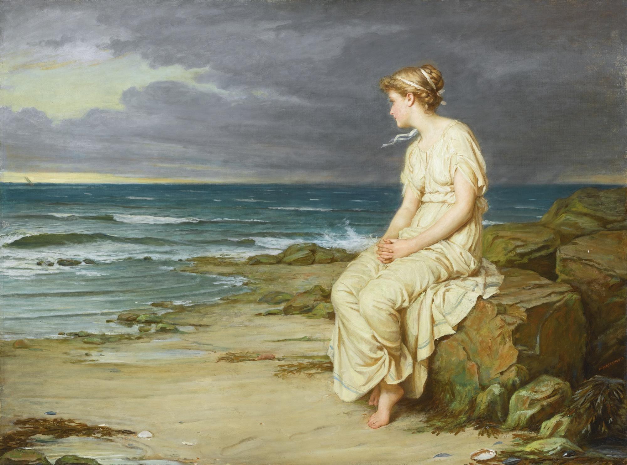 John William Waterhouse (1849-1917) Miranda (76 by 101,5 cm)