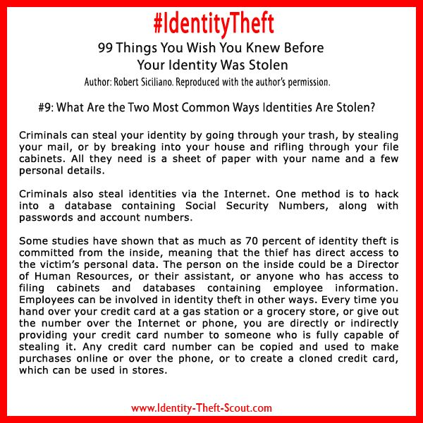 Identity Theif Can Steal Your Debit Or Credit Card Numbers