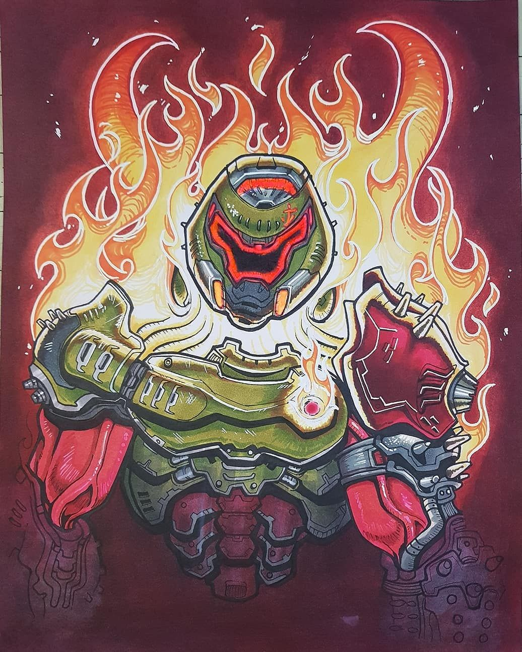 Doom Community On Instagram The Demonic Slayer Awesome Art By U