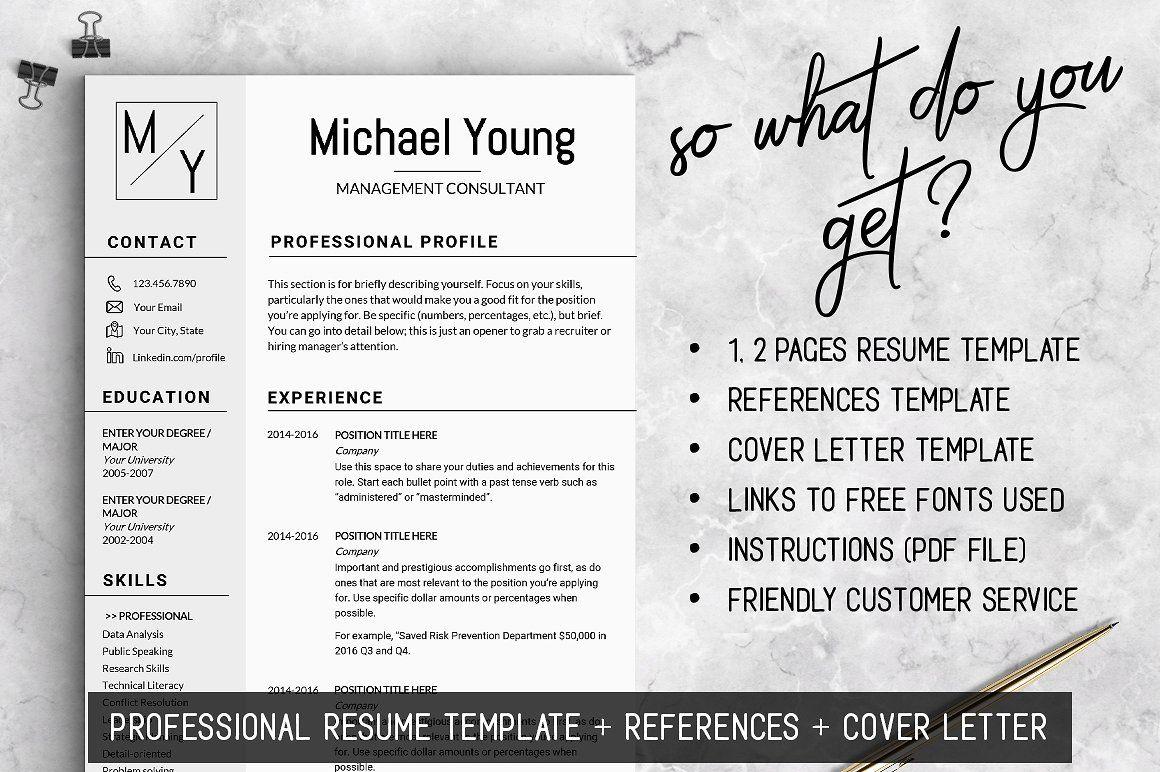 Professional Resume CV Template Resume template, Resume