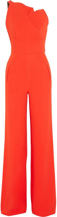 $2,745, Roland Mouret Colston Stretch Crepe Jumpsuit. Sold by NET-A-PORTER.COM. Click for more info: https://lookastic.com/women/shop_items/378497/redirect
