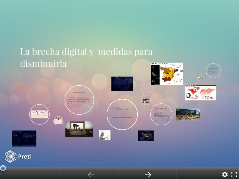 La presentación oral : La brecha digital y medidas para disminuirla