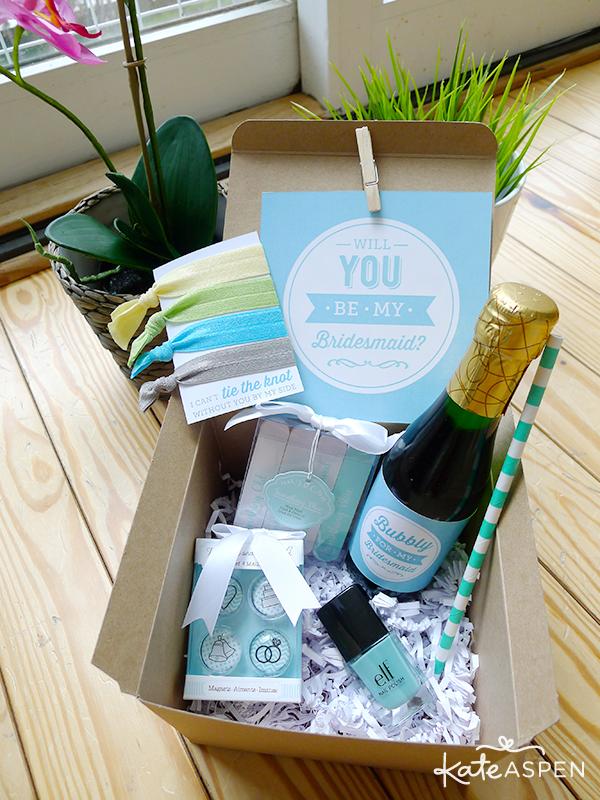 Diy Will You Be My Bridesmaid Gift Box Everything Bridesmaids