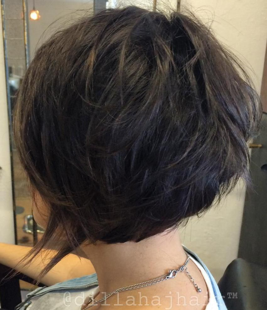 short shag hairstyles that you simply canut miss dark brown