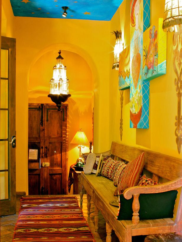 Mexican Style Wall Decor Part - 18: Whimsical Mexican-Inspired Entry Hall