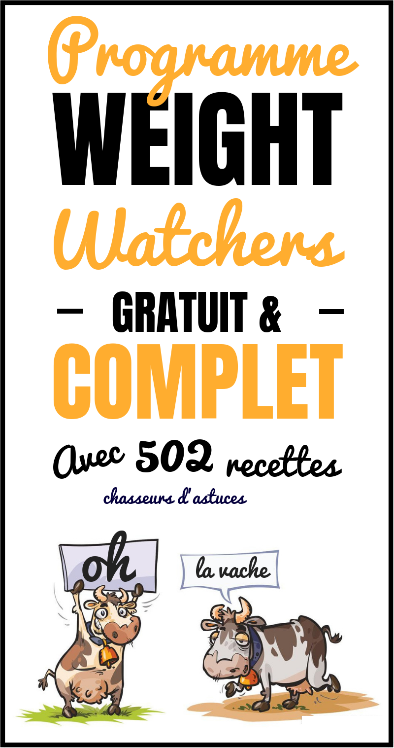 programme weight watchers gratuit  u0026 complet  avec 502