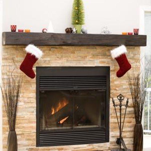 How To Mount A Mantel Beam Brick Fireplace Fireplace Doors Wood Fireplace