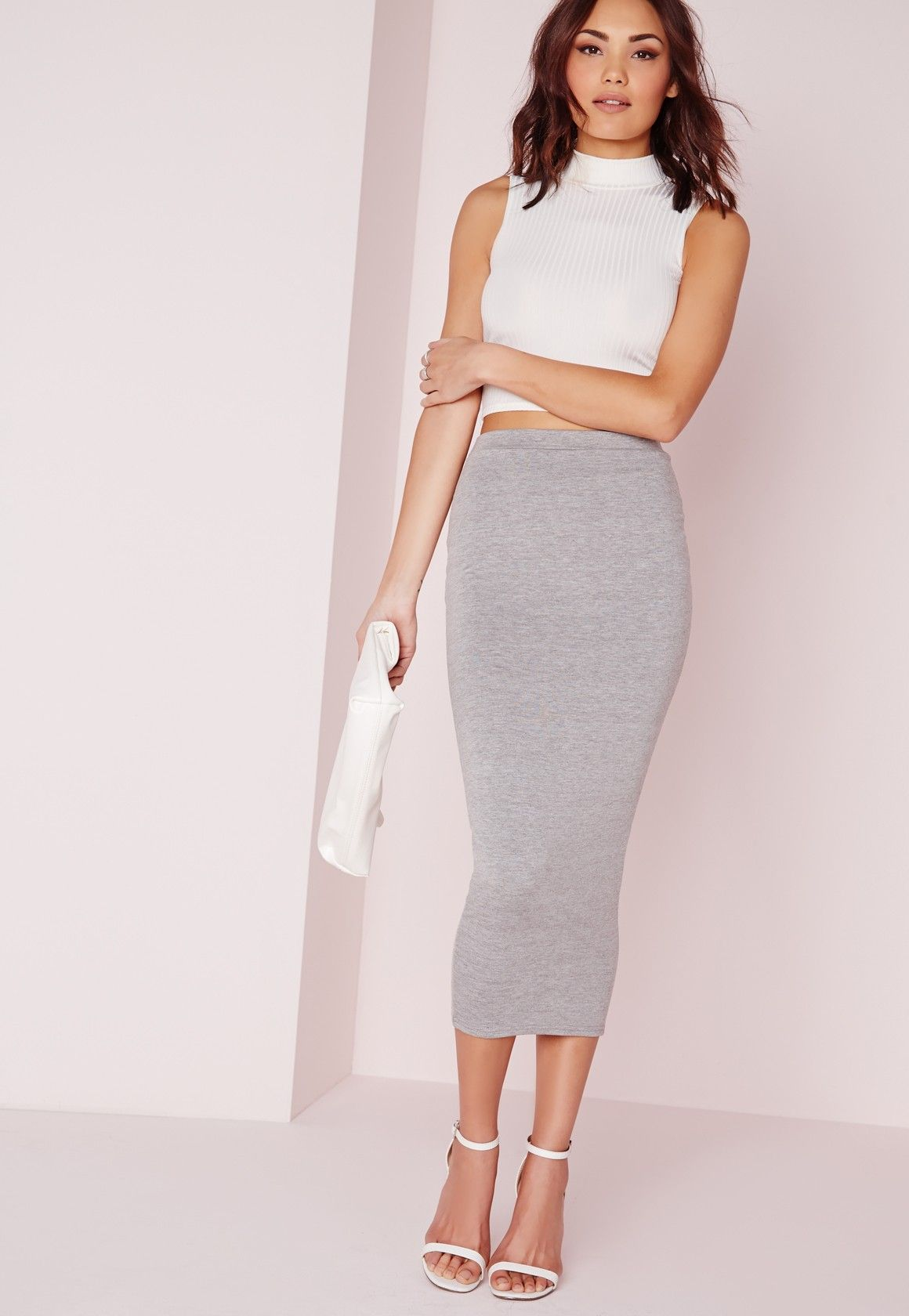 amp up your curves with our bodycon long midi skirt. coming to your