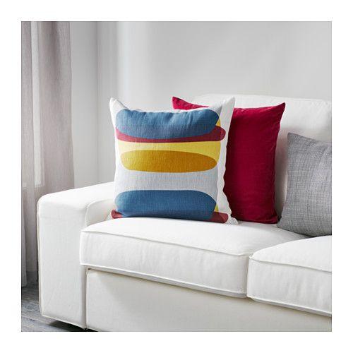 MALIN FIGUR Kissenbezug, blau grau, gelb Reißverschluss, Gelb - wohnzimmer grau gelb