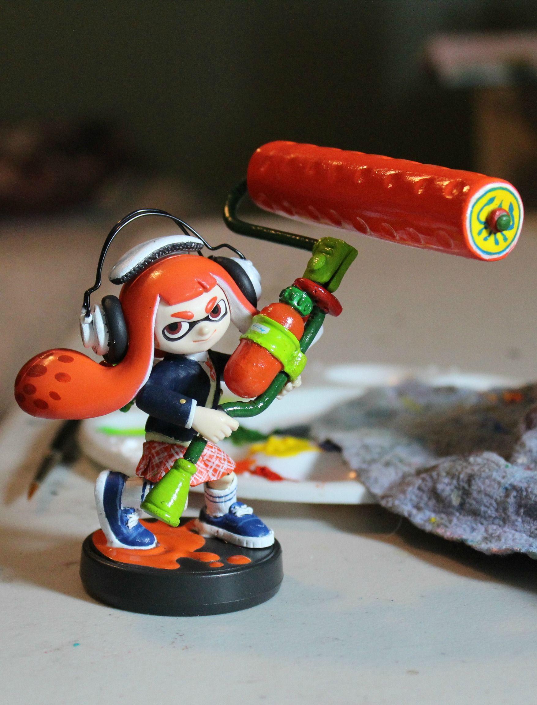 Custom Inkling Girl Splatoon Amiibo Complete Outfit Remodel Splatoon Amiibo Nintendo Fan Art