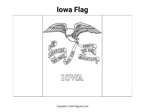 Free Printable Iowa Flag Coloring Page Download It At Https Flaglane Com Coloring Page Iowa Flag Flag Coloring Pages Coloring Pages Flag
