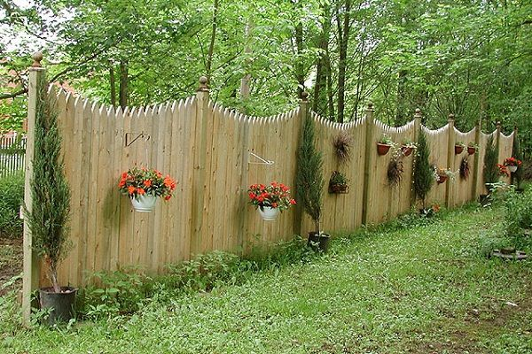 Wood Picket Privacy Fence Designs Privacy Fence Designs Fence
