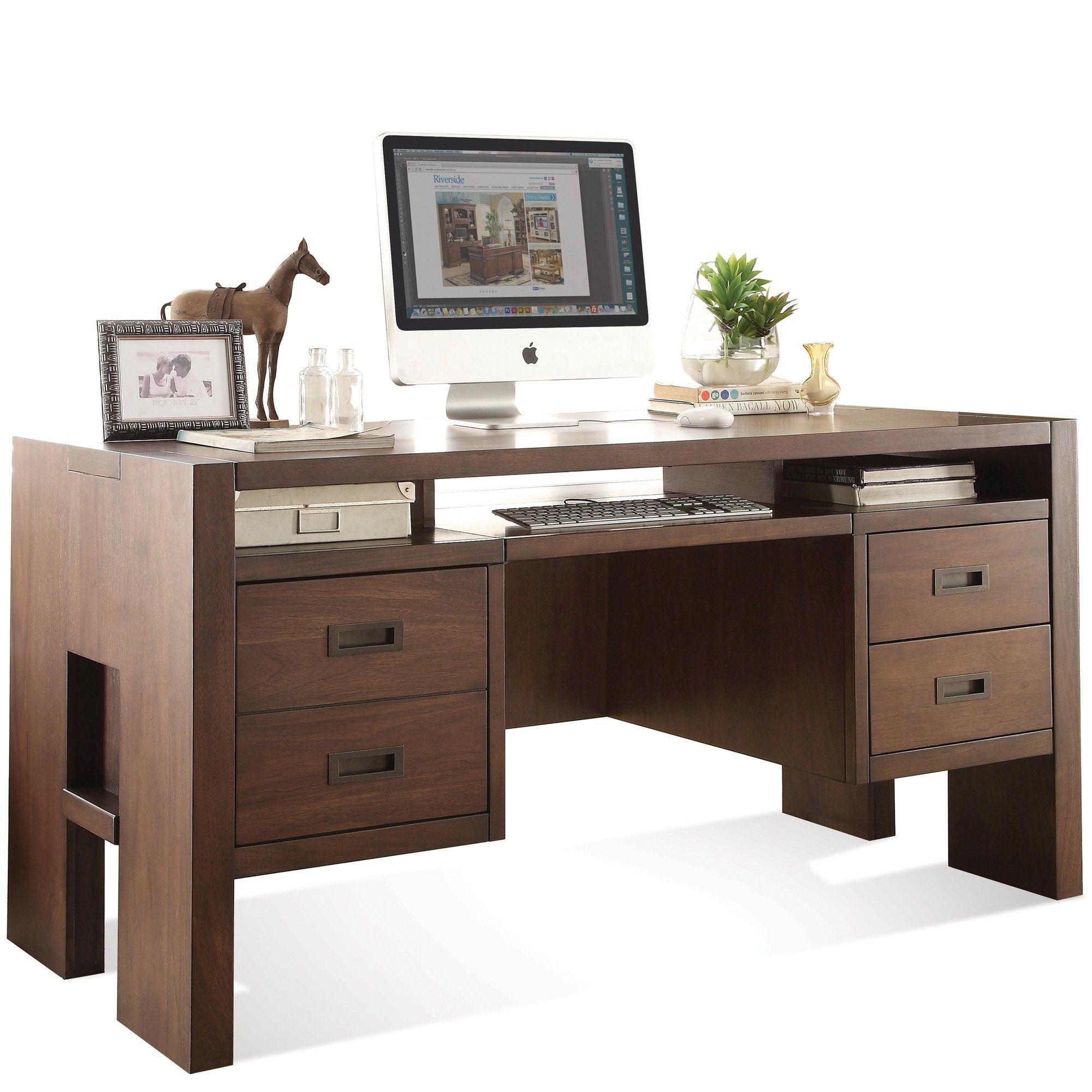 Riverside Home Office Executive Desk 44732: Riverside Furniture Terra Vista Computer Desk