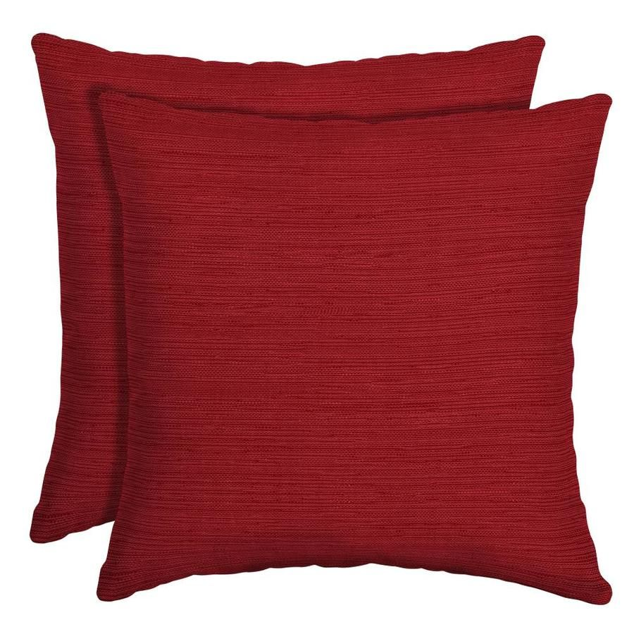 Allen Roth Solid Square Throw Pillow Outdoor Pillow Covers