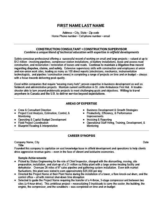 Construction Site Supervisor Resume Template Premium Resume Samples Example Education Resume Resume Resume Templates