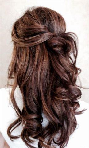 wunderschà ne romantische frisur fà r eine braut mit langen haaren